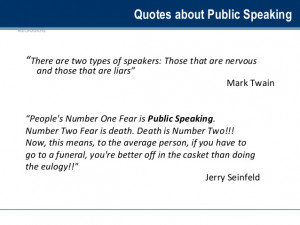 Fear Of Public Speaking Quotes Quotes about Public