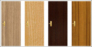 veneer walnut wooden flush doors