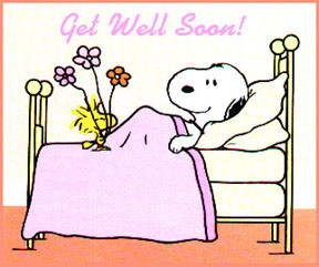 Clipart » Cartoons » Get Well Soon Snoopy