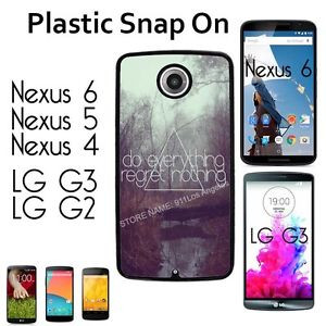 Cute-Quote-Regret-Girly-Hip-Case-For-Nexus-4-5-6-LG-G2-G3-Snap-On ...