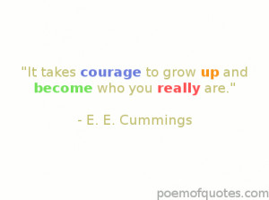 An E. E. Cummings quote about teens.