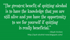 the greatest benefit of quitting alcohol