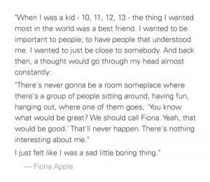 Fiona Apple quote