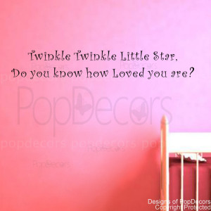 Twinkle twinkle little star-words and letters quote decals