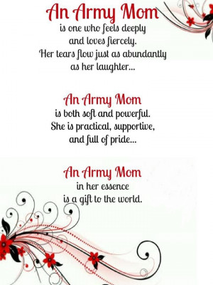 For my sissy missing her baby at boot camp. Army Mom , lovely ...