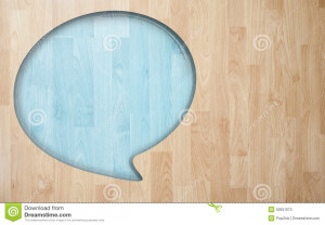 Stock Photos: Speech quote with Wood plank tile texture background