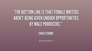 The bottom line is that female writers aren't being given enough ...