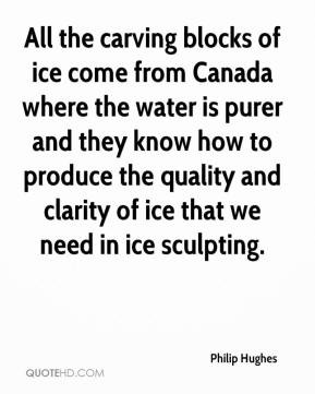 Philip Hughes - All the carving blocks of ice come from Canada where ...