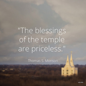 On Temples and Peace (FHE plans and quotes from President Monson)