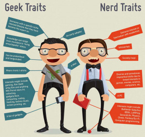 ... infographic here detailing the difference between geeks and nerds