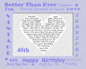 Happy 40th Birthday Funny Messages Unique 40th birthday gift