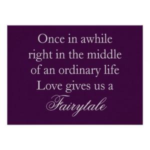 Purple Wedding Invitations with Love Quote from Zazzle.com