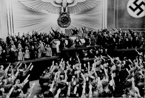 Hitler in the German Reichstag in 1938