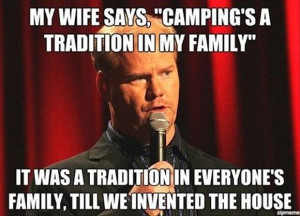 funny comedian quotes about camping