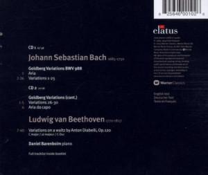 Barenboim Bach Goldberg Variations Beethoven Diabelli