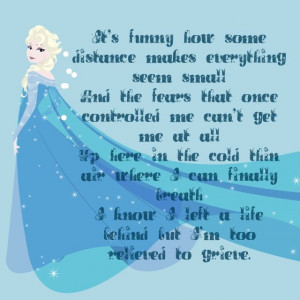 Frozen - Elsa quote