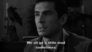 black and white, crazy, mad, people, psycho, quote, subtitles