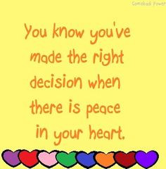 Right decision quote via Comeback Power at www.Facebook.com/... and ...