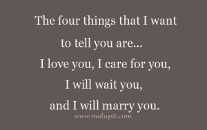 Want To Marry You Quotes