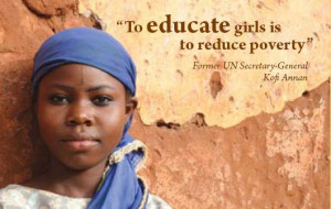 change the world to educate girl is to reduce poverty