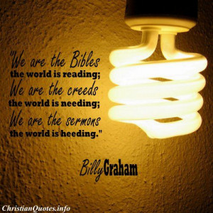 Billy Graham Christian Quote - The Word