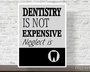 Dental Office Decor, Art Print, Gift for Dentist, Dental Quote, wall ...