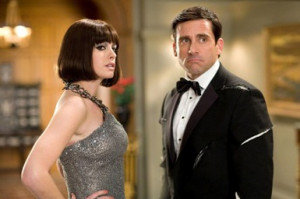 Anne Hathaway and Steve Carell in 'Get Smart.'. © Warner Bros ...