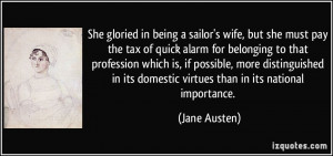 She gloried in being a sailor's wife, but she must pay the tax of ...