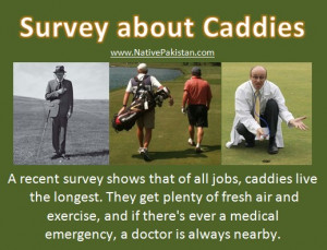 Best Golf Humor in English : Survey about Caddies - Best Golf Jokes