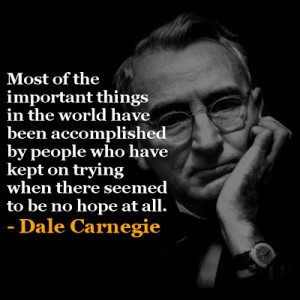 Dale Carnegie inspirational quotes
