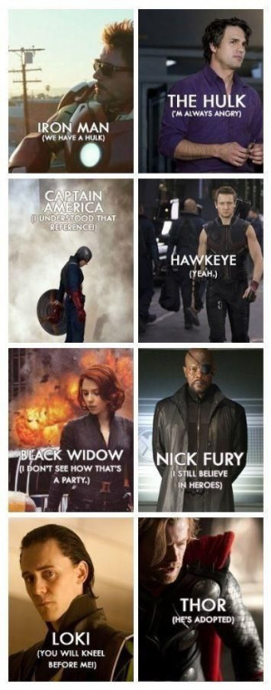 Avengers- movie quotes