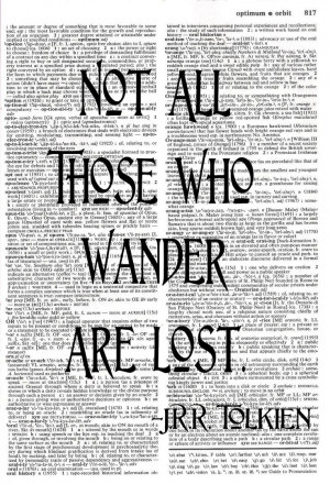 Tolkien Quote • Upcycled Dictionary Print