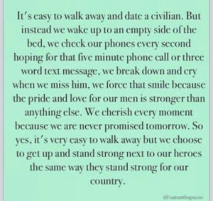 ... Spouse. Love. Deployment quotes. Quotes. Marines. Military wife