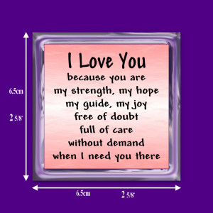 Details about I LOVE YOU VERSE MAGNET HUSBAND, WIFE, BOYFRIEND GIFT