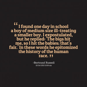 Quotes Picture: i found one day in school a boy of medium size ...