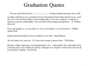 Inspirational Quotes For College Graduation