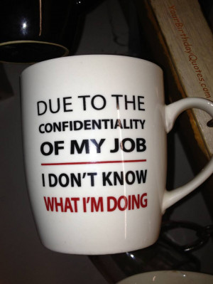 Due To The Confidentiality Of My Job Humorous Quotes