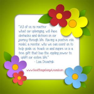 Mentors change lives