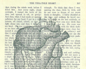 ... Heart Image Printed on Page of The TELL-TALE HEART by Edgar Allan Poe