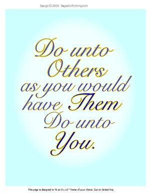 do unto others   Do Unto Others   BeautifulWords.net