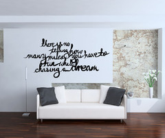 ... Our Designs » Vinyl Wall Decal Sticker Chasing Dreams Quote #OS_MB284