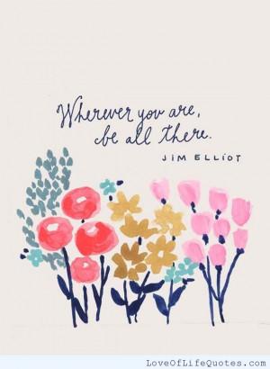 Jim Elliot – Wherever you are