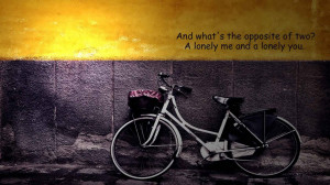 Lonely Bike Love Quotes for Facebook Timeline Cover