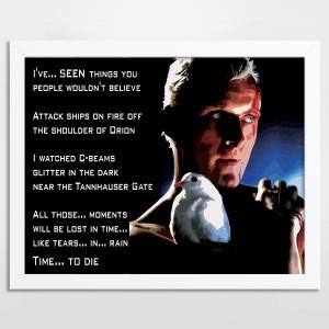 Bladerunner Tears in Rain – Alternative Movie Art Print