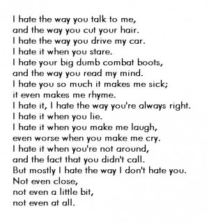 hate you poems and quotes
