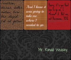 Ron Weasley memorable quotes