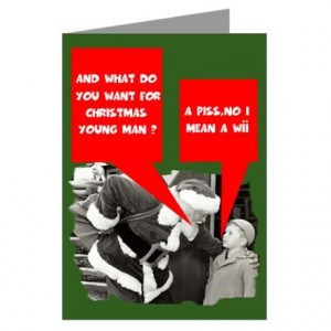 Funny sayings Santa Claus Greeting Cards