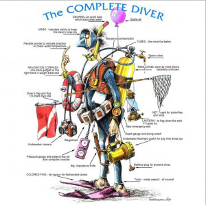 The complete diver - Maybe not as envisaged by PADI