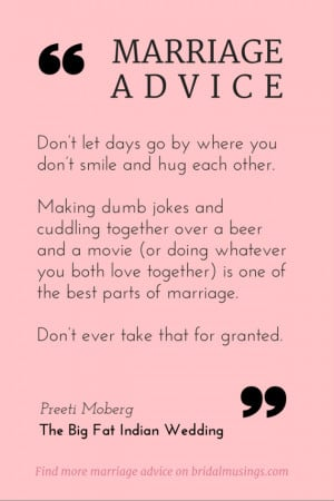 my top piece of marriage advice at least in my