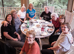 Class of 1972 Reunion Committee met at Gilbert Lodge for an